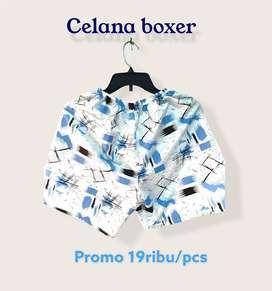 Promo celana boxer premium unisex mirah