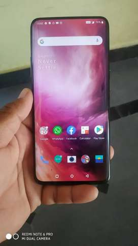 One plus 7pro 8gb ram 256 rom gray colour only 50days mobile.