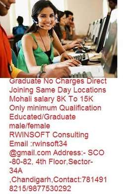Required Technical Support Executive  Female +2 Graduate No Charges Di