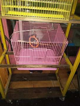 Small size cage different colour pink and yellow