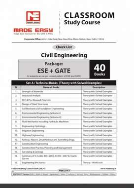 Made easy sets of ESE+ gate book set civil engineering