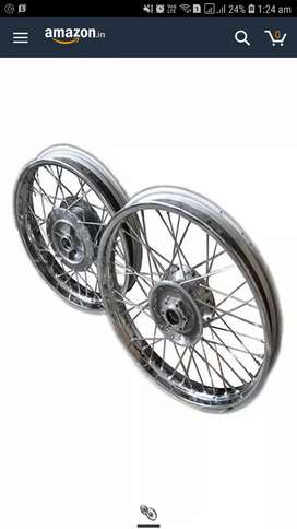 spock wheels From & Rear Rim Set For Royal Enfield classic 350