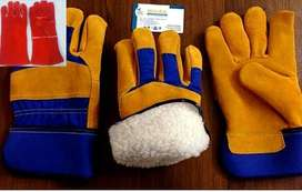 GYm Wapda bass ball mechanic garden  Grain cowhide wholesaler gloves