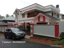 13 Cents 4 BHK House near Thengana- Changanacherry