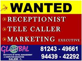 Wanted - Receptionist - Tell caller - Business Developers
