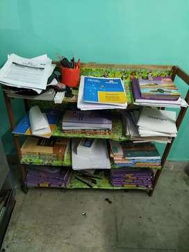 Portable wooden book/shoe rack