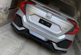 Honda civic x kit bumpers type r body kit front and rear bumper