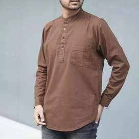 Baju Koko Kurta LS Brown Product Original by Al Habsyi (Real Pict)