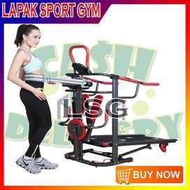Alat Olahraga Fitness Treadmill Manual TL 004 6fungsi Murah