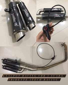 Knalpot CBR 150 R Tridende 3tech