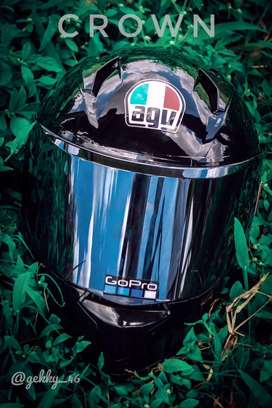 Agv stickered helmet mt so axor smk
