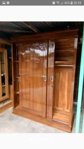 Lemari Jati Pintu 2 Sleding Murah Tanggulangin