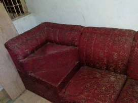 Luxury Sofa Set with Red Colour