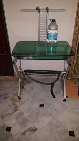 Glass top Copmuter Table