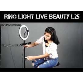 Stand Tripod Ring Light L25 Beauty Lamp VLog Lampu Selfie Youtube
