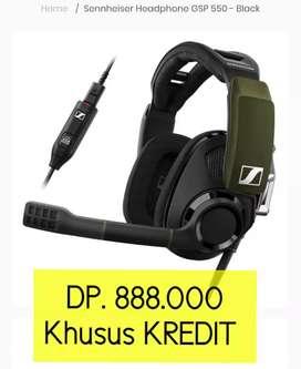 SENNHEISER Headphone GSP 550-Black Khusus KREDIT
