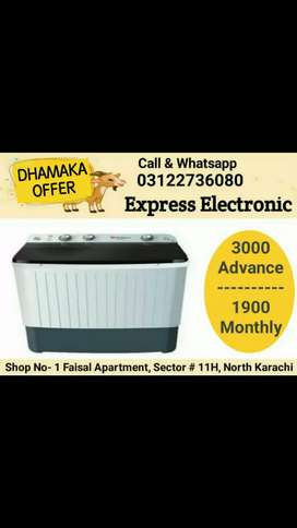 Advance sirf 3000 asan iksat par hasil kary doubel tub washing machine