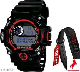 New Generation Black Dial LED Sports Smart watch