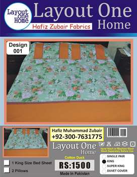 KING SIZE BED SHEET WITH PATCH WORK