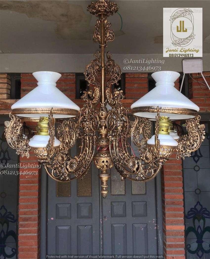 dekorasi rumah joglo lawasan lampu hias gantung klasik antik repro 0