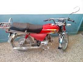 Dhoom motorcycle 2014 model red colour