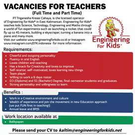 VACANCIES FOR TEACHERS