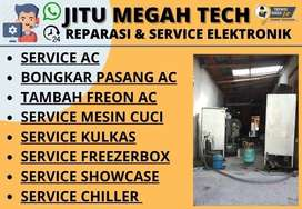 Service AC Cuci AC Isi freon Kulkas Tidak dingin Service Mesin cuci