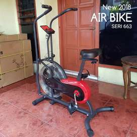 Sepeda statis air bike fitness spin cycle 2019