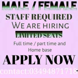 Jobs only for Lahore # Office work
