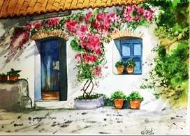 Watercolor painting for sale