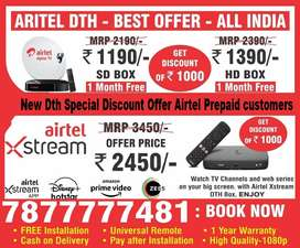 New Dth Best offers Airtel dth box airtel xstream box dth set top box