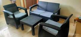 Garden Sofa Set 2+2 with table with Cushion