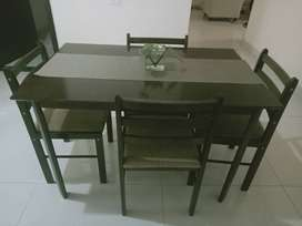 Housefull Rubber Wood 4-seater Dining Set for Sale