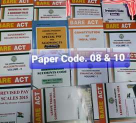 A.P.Departmental Exam books Bare Acts all Paper codes Discount 10%