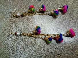 Beautiful multicolored earings.
