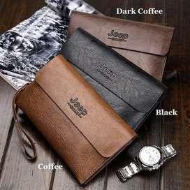 Tas Tangan Dompet Kulit Handbag JEEP Leather Elegant Clutch bag