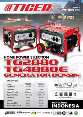 Mesin genset Tiger type 4880(2500watt)