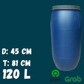 Drum Air / Tempat Sampah / Tong Plastik Tebal 120 Liter L