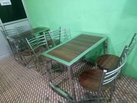 3 Tables and 8 chairs
