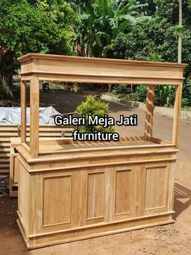 Meja Aquarium kayu jati D252 wood