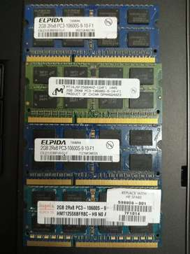 4 x 2gb ddr3 rams 1333mhz for laptops