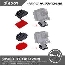 Flat Atau Curved Surface Mount With 3M Tape Set Gopro Action camera