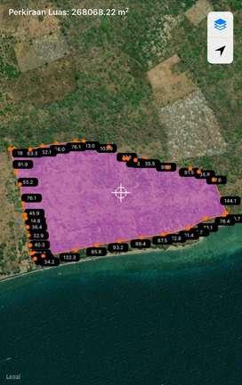 Pantai 1 km pulau moyo Simo