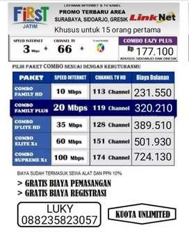 PASANG WIFI GRATIS ( FIRST MEDIA & TV KABEL)