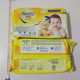 Tisu bayi tisu basah merk paseo 50 sheets