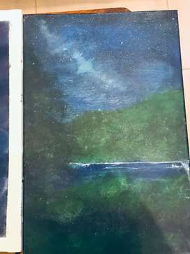 Night sky with star painting 18 by12 imported canvas