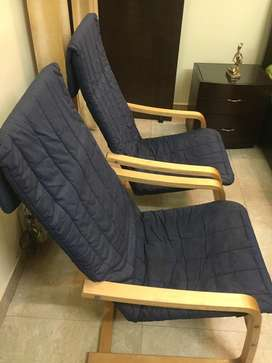 4 Recliner wooden chairs