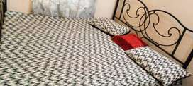 Iron double bed  with or without mattress