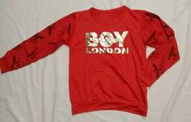 Sweater Anak laki laki Merah BOY LONDON Cocok untuk  6-8 tahun