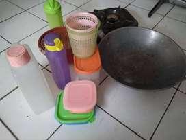 peralatan dapur atau warung,rak piring,kompor normal tanpa selang regu